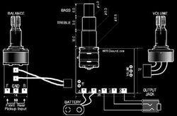 ARTEC SE2A активный темброблок для бас-гитары.  Код: 00041534.